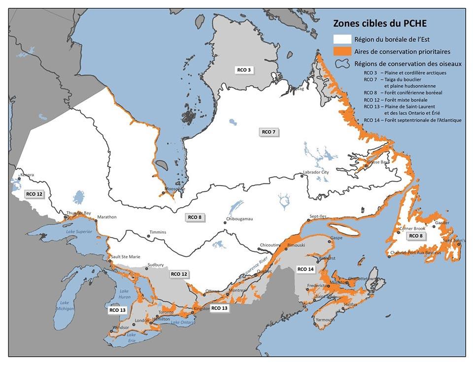 Carte : Zone cibles du PCHE